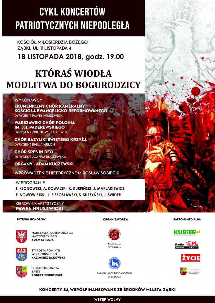 Koncert Niepodległościowy 18.11.2018-Ząbki