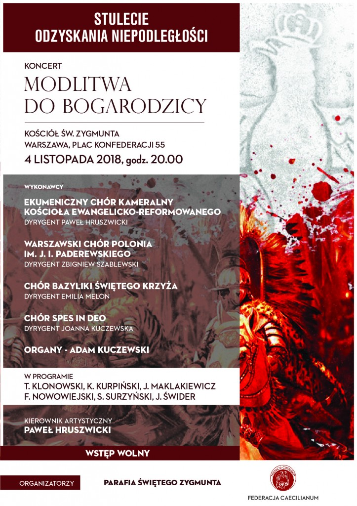 Koncert Niepodległościowy 4.11.2018-św. Zygmunt
