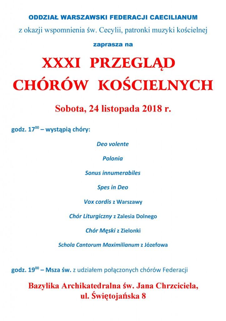 XXXI Przegląd Chórów-plakat