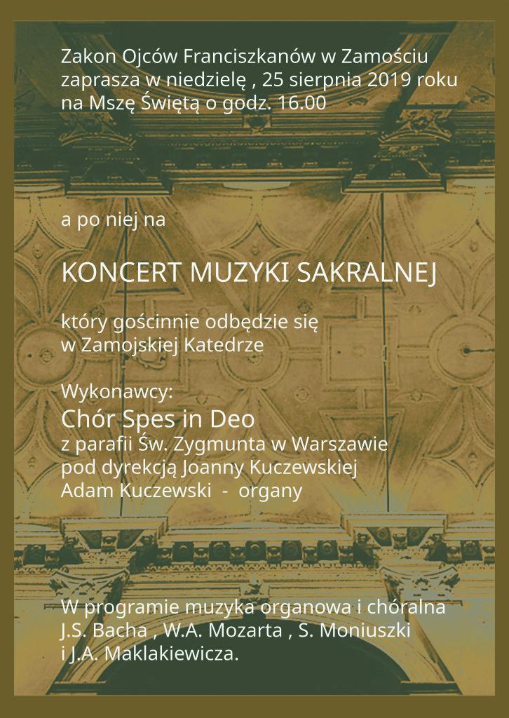 Koncert w Zamościu - 25.08.2019