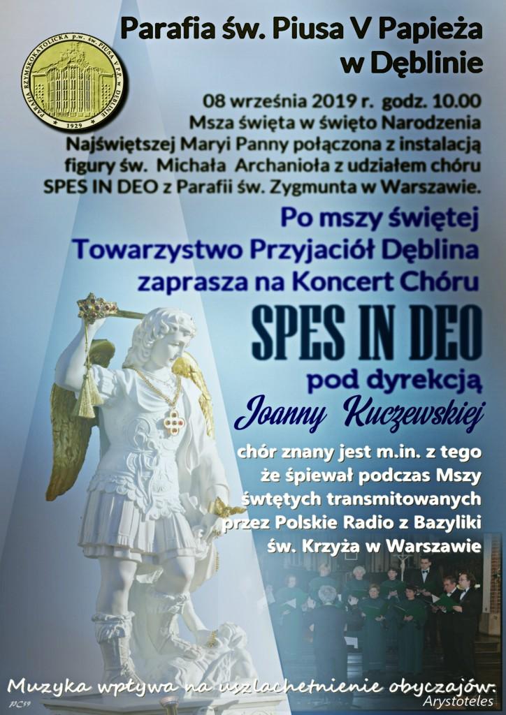 Plakat-Msza i Koncert-Dęblin-8.09.2019